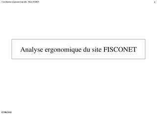 Analyse ergonomique du site FISCONET