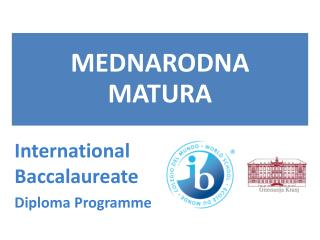 International B accalaureate Diploma  P rogramme
