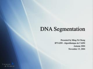 DNA Segmentation