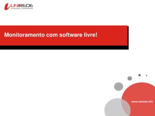 Monitoramento com software livre!