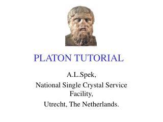 PLATON TUTORIAL