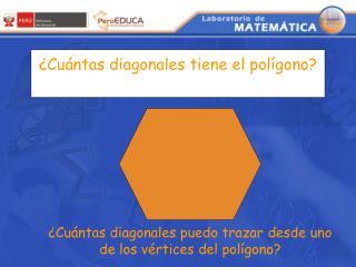 ¿Cuántas diagonales tiene el polígono?
