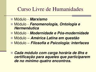 Curso Livre de Humanidades