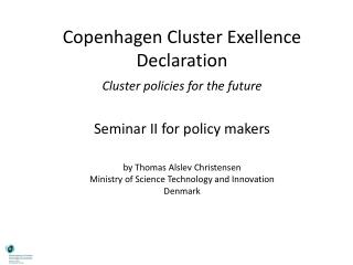 Lessons from  9 countries, 18 cluster programmes and 150 cluster organisations in Europe