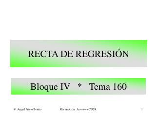 RECTA DE REGRESIÓN