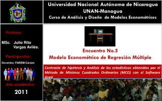 Universidad Nacional Aut�noma de Nicaragua UNAN-Managua