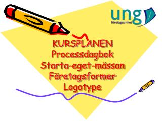 KURSPLANEN Processdagbok Starta-eget-mässan Företagsformer Logotype