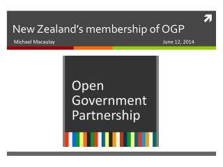New Zealand's membership of OGP