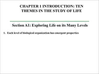 CHAPTER 1 INTRODUCTION: TEN THEMES IN THE STUDY OF LIFE