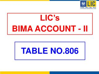 LIC's BIMA ACCOUNT - II