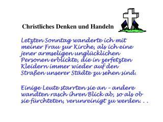Christliches Denken und Handeln