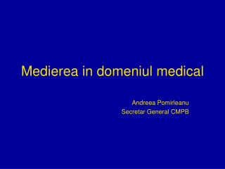 Medierea in domeniul medical