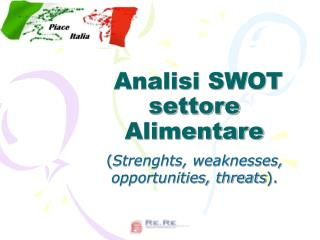 Analisi SWOT settore Alimentare
