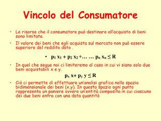 Vincolo del Consumatore
