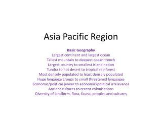 Asia Pacific Region