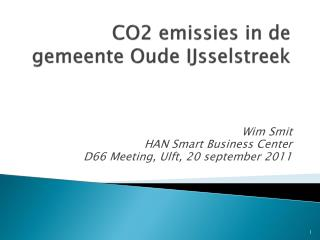 CO2 emissies in de gemeente Oude IJsselstreek