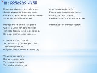 10 - CORAÇÃO LIVRE