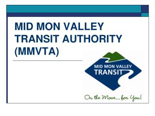 MID MON VALLEY TRANSIT AUTHORITY MMVTA
