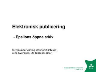 Elektronisk publicering