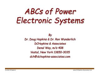 ABCs of Power  Electronic Systems