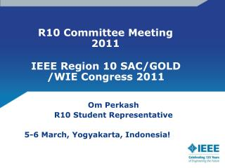 R10 Committee Meeting 2011