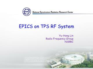 EPICS on TPS RF System