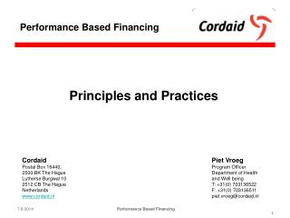 Principles and Practices