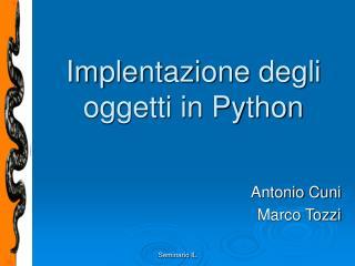 Implentazione degli oggetti in Python