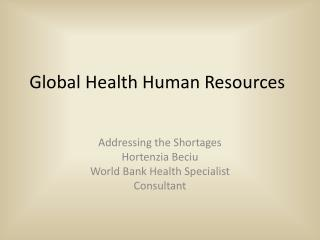 Global Health Human Resources