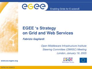 EGEE 's Strategy  on Grid and Web Services