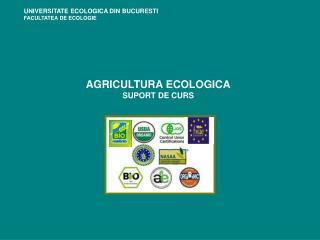AGRICULTURA ECOLOGICA SUPORT DE CURS