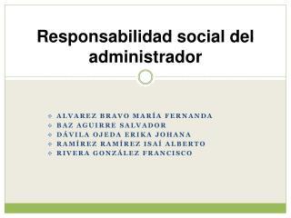 Responsabilidad social del administrador