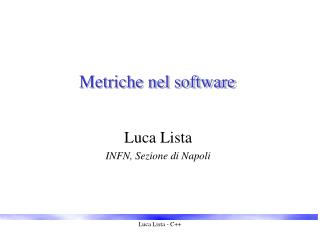 Metriche nel software