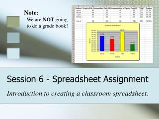 Session 6 - Spreadsheet Assignment