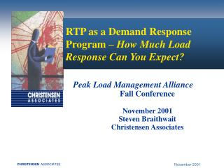 RTP as a Demand Response Program –  How Much Load Response Can You Expect?