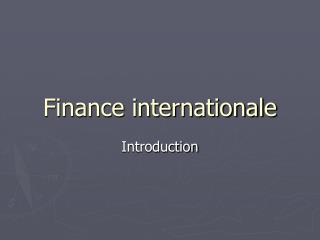 Finance international e