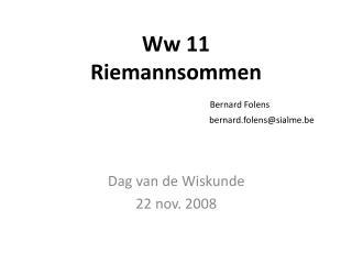 Dag van de Wiskunde 22 nov. 2008