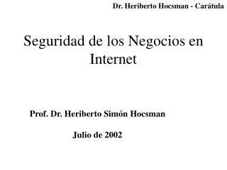 Seguridad de los Negocios en Internet