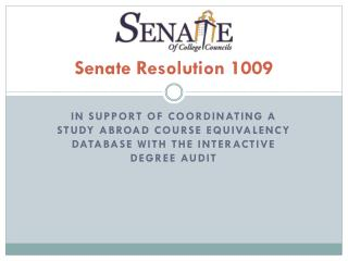 Senate  Resolution 1009