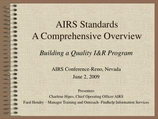 AIRS Standards A Comprehensive Overview