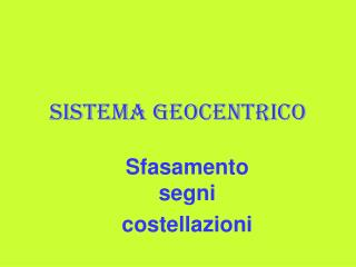 Sistema geocentrico