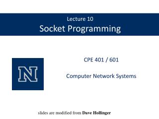 Lecture 10 Socket Programming