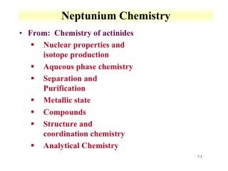 Neptunium  Chemistry