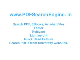 PDFSearchEngine. in