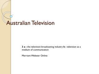 Australian Television