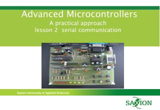 Advanced Microcontrollers A practical approach lesson 2  serial communication