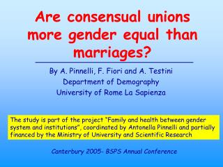 Are consensual unions more gender equal than marriages?