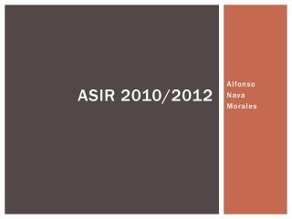 ASIR 2010/2012