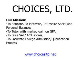 Our Mission:  To Educate, To Motivate, To Inspire Social and Personal Balance;