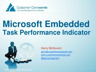 Microsoft  Embedded Task Performance Indicator
